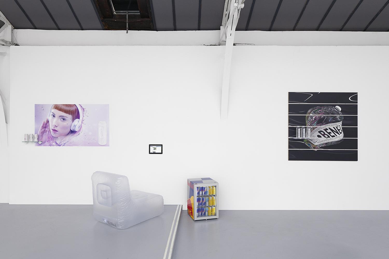 'Influencers'  Installation view, QT, Ed Fornieles, Ben Elliot, Hussenot, 2019, Paris — Galerie Éric Hussenot, Paris