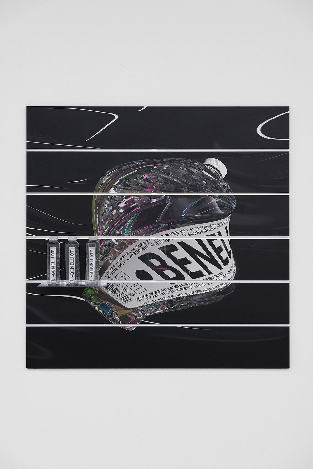 Board (Ben Elliot Water), Ben Elliot, 2019, Unique, Digital print on slatwall panel,  