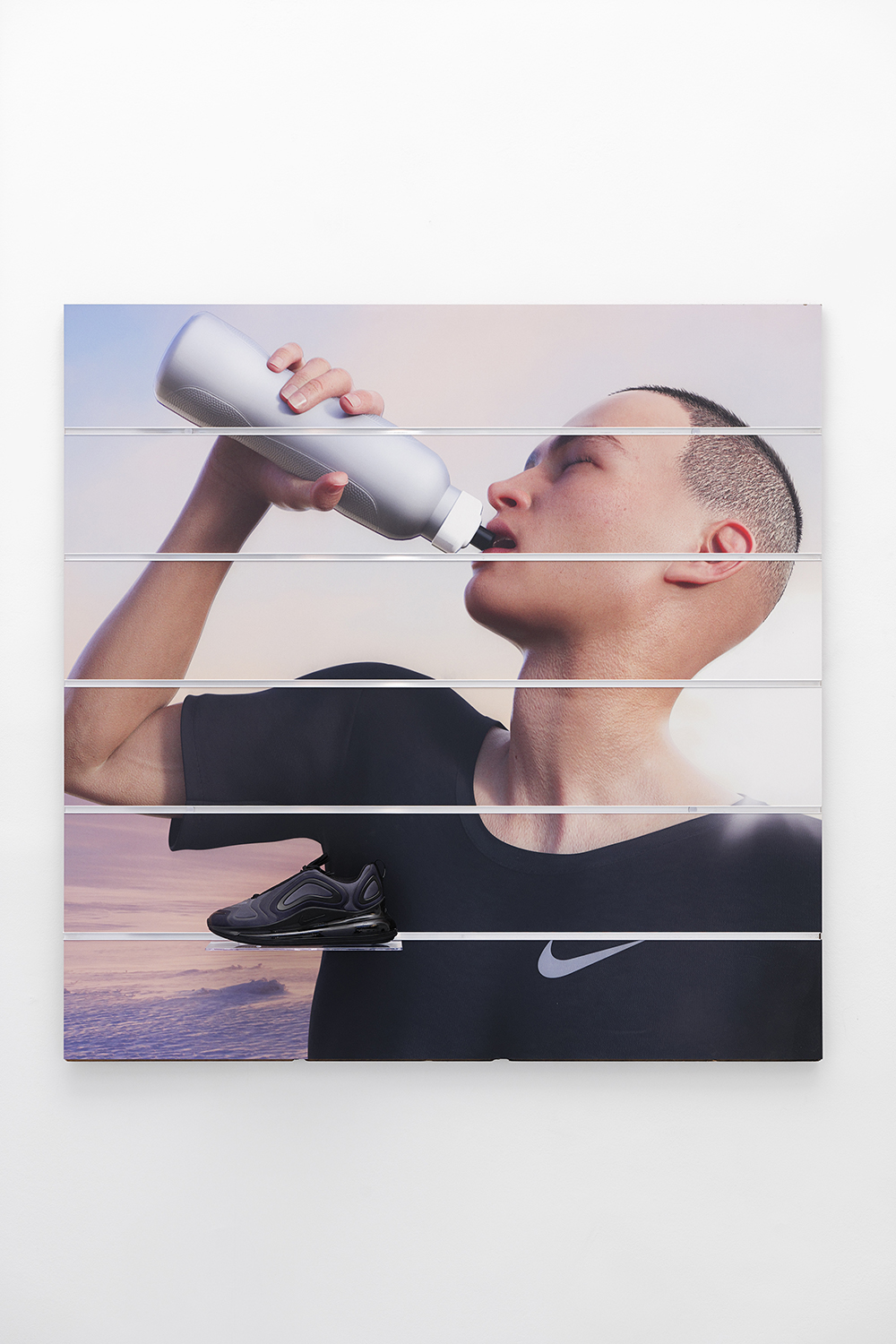 Board (Nike), Ben Elliot, 2019, Unique, Digital print on slatwall panel,  