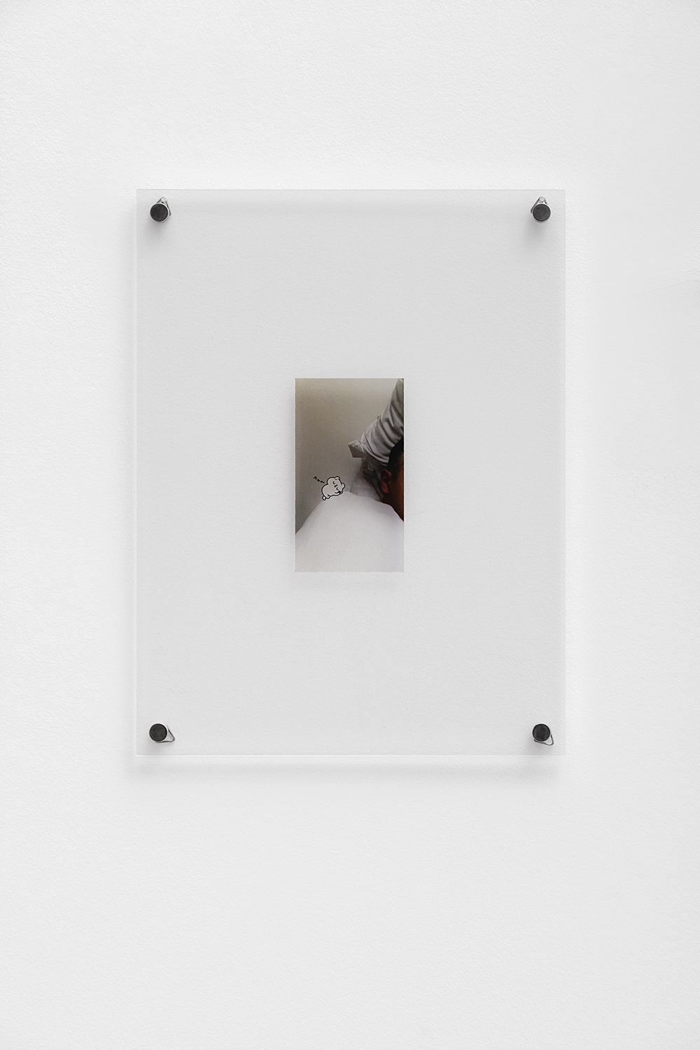 Unreleased Selfies,  Ben Elliot, 2019, Unique, Digital print on 0,75mm transparent polycarbonate sheet 12,3 x 7 cm with frame : 36 x 27 cm — Galerie Éric Hussenot, Paris
