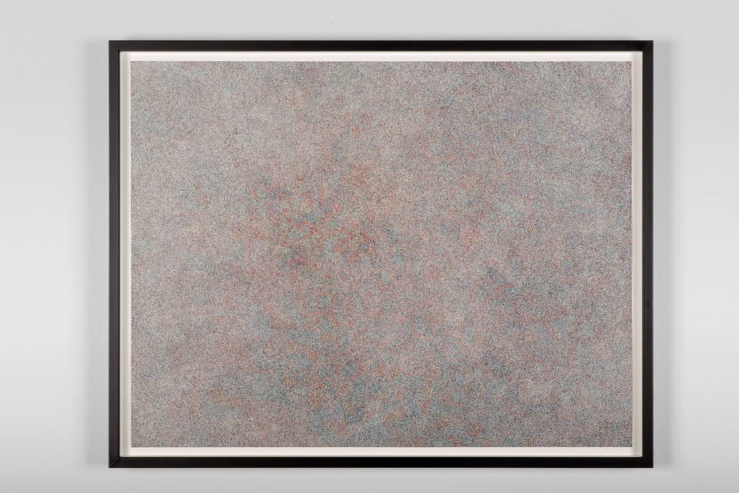 Neige (RVBB), Antoine Aguilar, 2014, Encre sur papier,   55 x 70 x 3 cm (21 ½ x 27 ½ x 1 inches) — Galerie Éric Hussenot, Paris