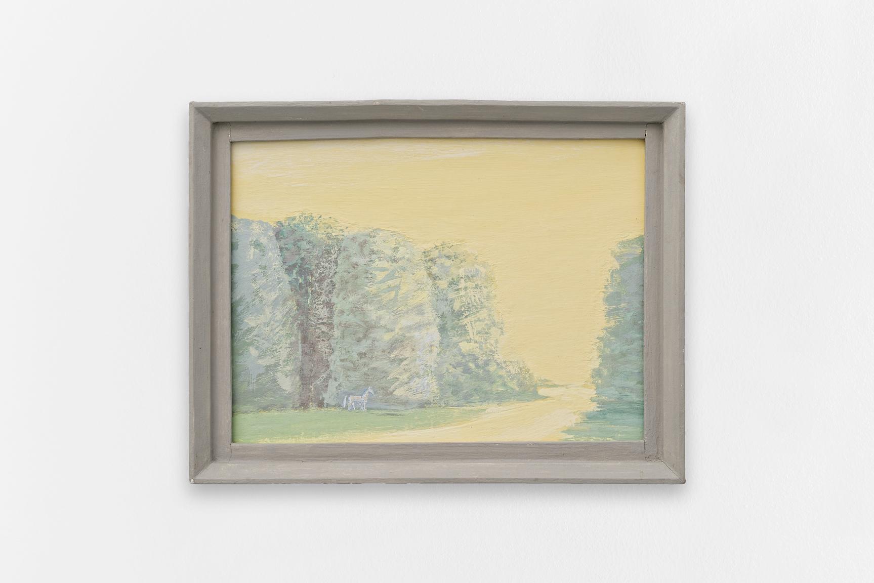Des arbres,  Sorin Câmpan, 2018, acrylic and gesso on board, 44,5 x 34,5 cm   — Galerie Éric Hussenot, Paris