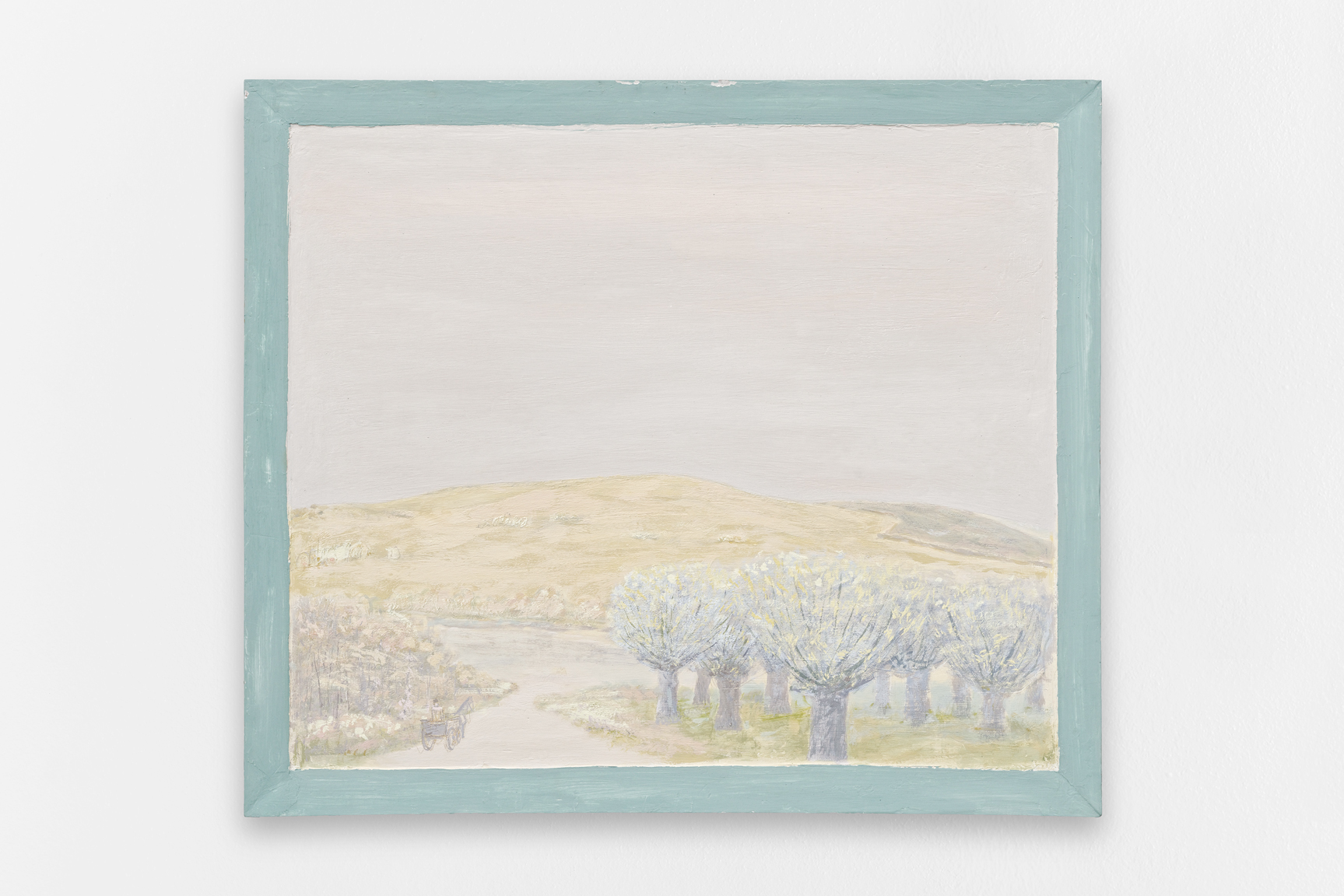 Paysage,  Sorin Câmpan, 2019, acrylic and gesso on board, 98 x 83,5 cm 