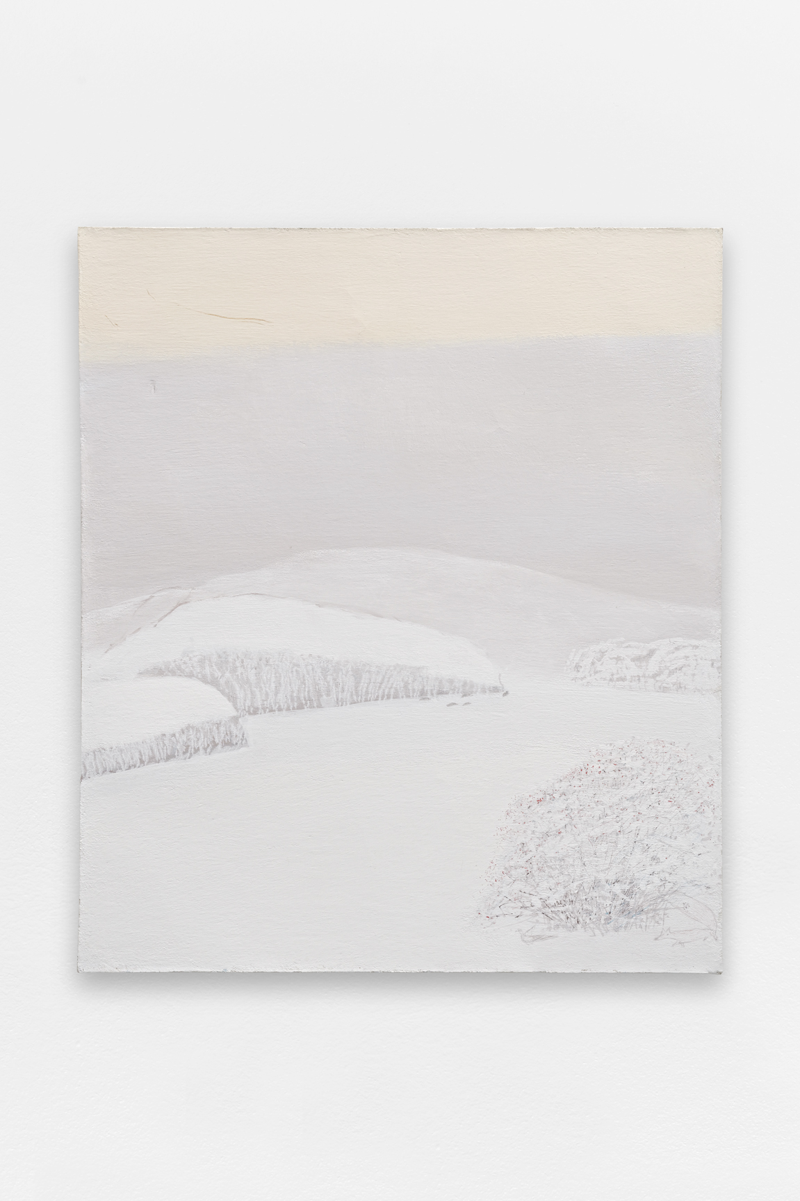 L'hiver,  Sorin Câmpan, 2019, acrylic and gesso on board, 149,5 x 129 cm 
