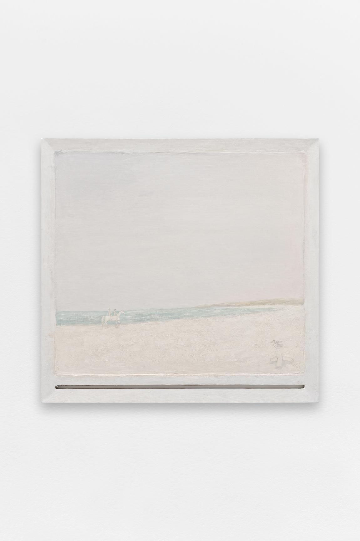 Cavaliers,  Sorin Câmpan, 2019, acrylic and gesso on board, 100 x 95 cm   — Galerie Éric Hussenot, Paris