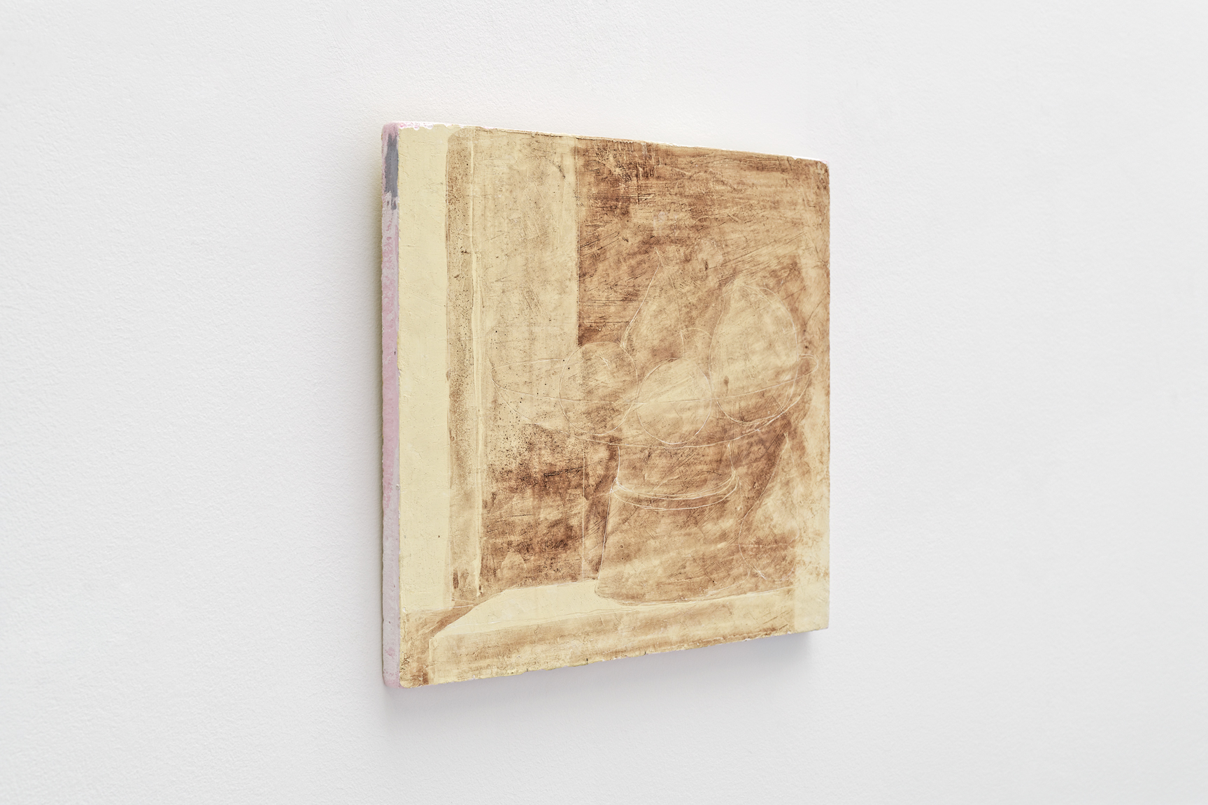 Fruitière,  Sorin Câmpan, 2019, acrylic and gesso on board, 38,5 x 36 cm 