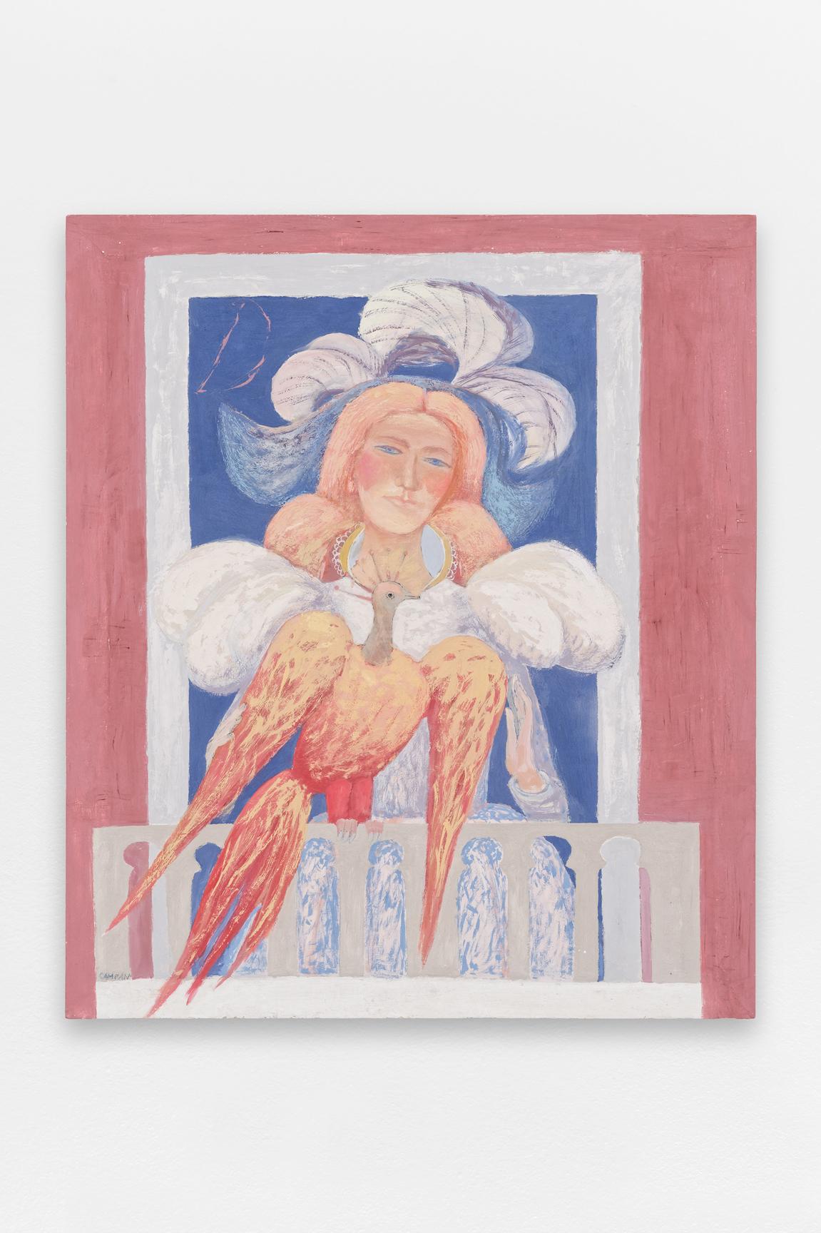 La lune, Venise et toi,  Sorin Câmpan, 2019, acrylic and gesso on board, 84 x 98 cm   — Galerie Éric Hussenot, Paris