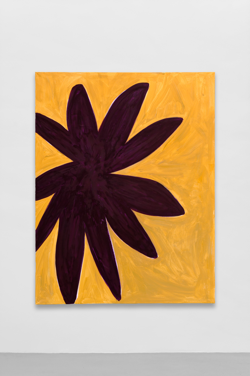 Flower, dark violett, beige, Tamuna Sirbiladze, 2014, mixed media on canvas,  