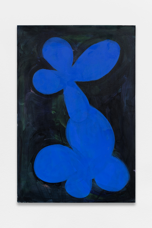 Flower 5, blue, dark green - black, Tamuna Sirbiladze, 2011-2015, oil on canvas, 150 x 100 cm — Galerie Éric Hussenot, Paris