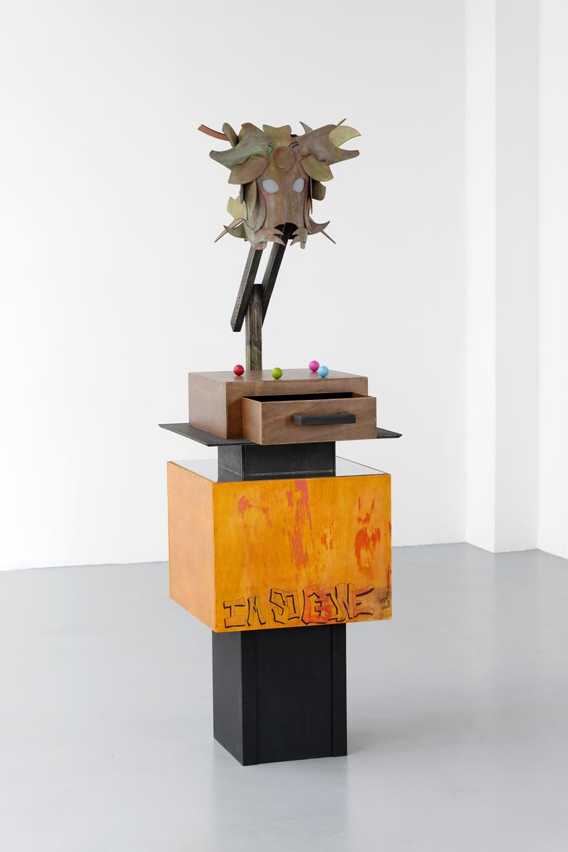 Mon frère le serpent, Matthieu Haberard, 2020, Bois, forex, acrylique, dimensions variables   — Galerie Éric Hussenot, Paris