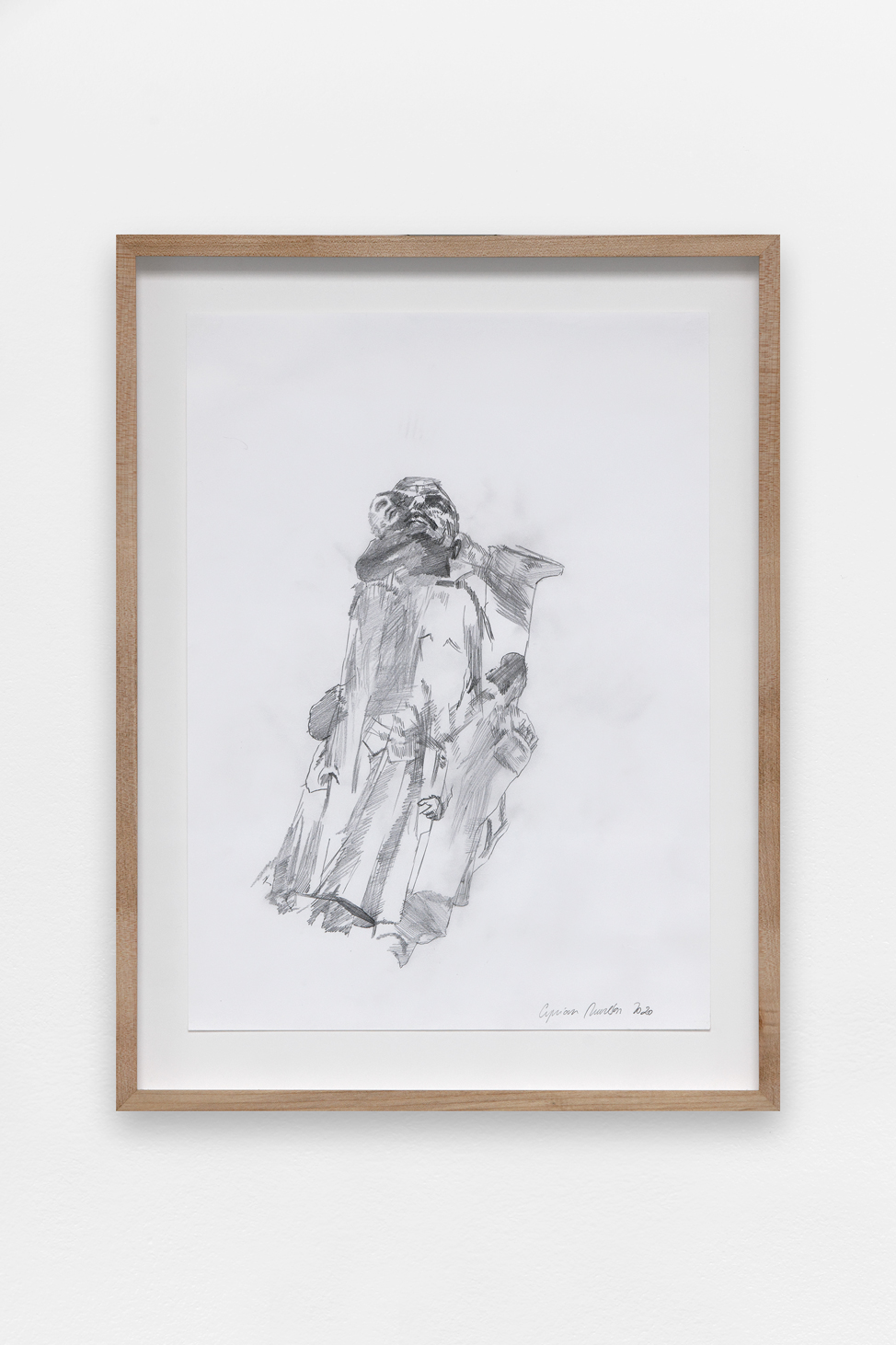 Preparatory drawing for a statue #2 , Ciprian Mureșan, 2020, Pencil on paper,  