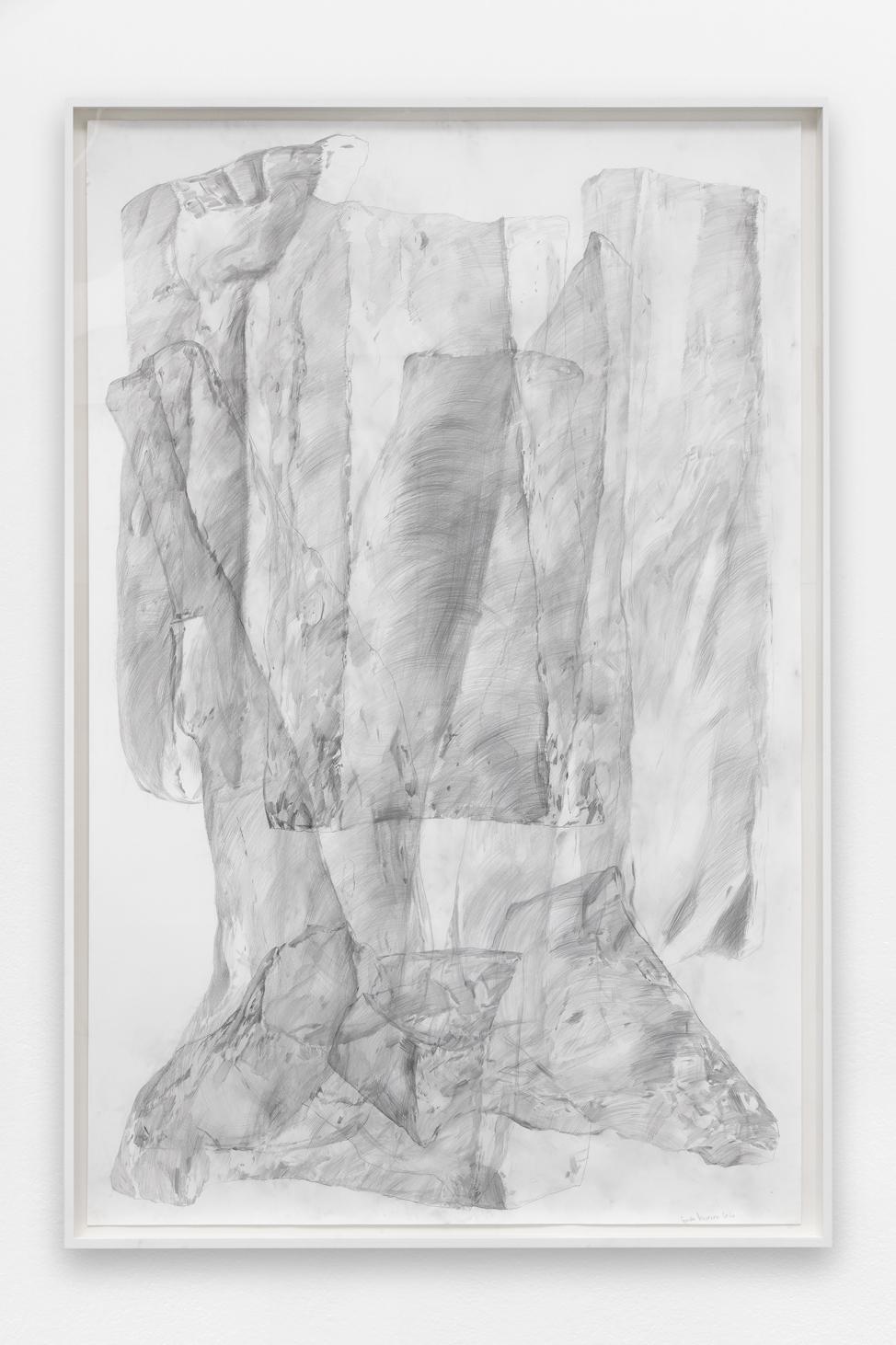 Spectre #2 , Ciprian Mureșan, 2020, Pencil on paper, 211 x 161 x 7 cm  — Galerie Éric Hussenot, Paris