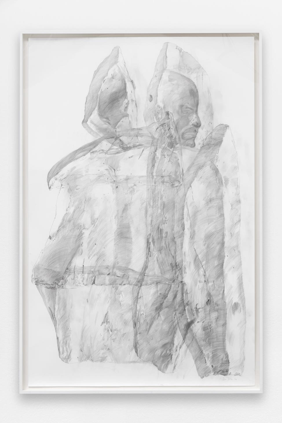 Spectre #3 , Ciprian Mureșan, 2020, Pencil on paper, 211 x 161 x 7 cm  — Galerie Éric Hussenot, Paris