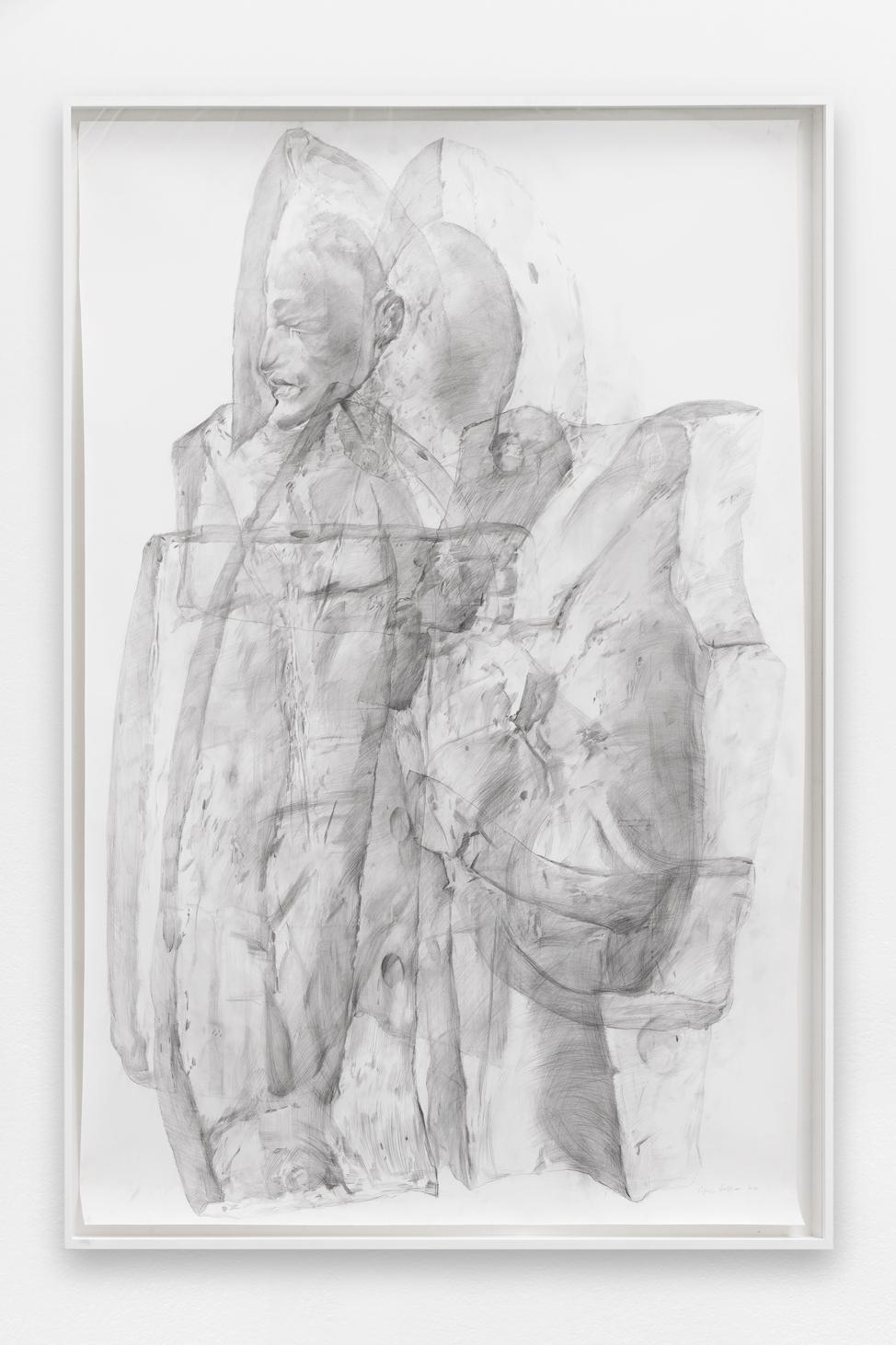 Spectre #1 , Ciprian Mureșan, 2020, Pencil on paper, 211 x 161 x 7 cm  — Galerie Éric Hussenot, Paris
